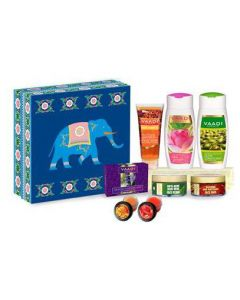 Vaadi Herbals Royal Elegance Herbal Gift Set (Blue Elephant)-495 gms