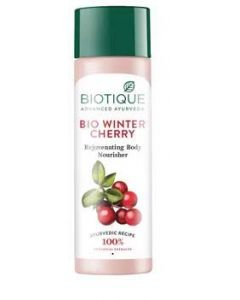 Biotique Winter Cherry Body Lotion, Transparent-120ml