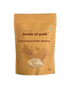 Pristine Organics Fields of Gold Organic Basmati Rice (Brown)-1kg