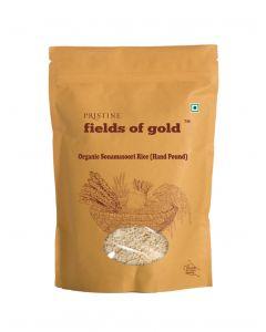 Pristine Organics Fields of Gold Organic Sonamasoori Rice (Hand pound)-1kg