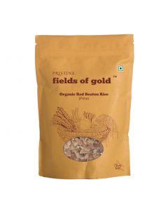 Pristine Organics Fields of Gold Organic Red Beaten Rice-500gm
