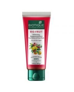 Biotique Fruit Whitening and Depigmentation Face Pack, Transparent-50gm