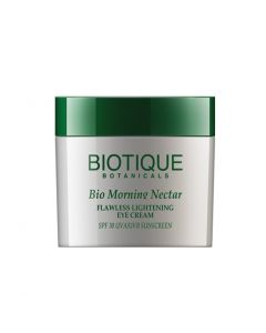 Biotique Bio Morning Nectar Flawless Lightening  Eye Cream SPF 30 UVA/UVB SUNSCREEN, 15G