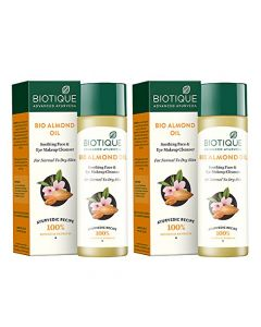 Biotique Bio Almond Oil (Face & Eye Makeup Cleanser)-120ml