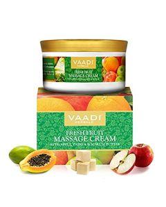 Vaadi Herbals Fresh Fruit Massage Cream With Apple Papaya & Kukum Butter-150 gms