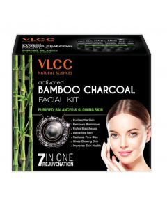 Vlcc Activated Bamboo Charcoal Facial Kit-60gm