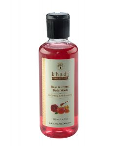 Khadi Shuddha Rose And Honey Body Wash-210ml