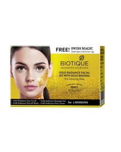 Biotique Bio Gold Radiance Facial Kit With Gold Bhasma- 5x10g+15g