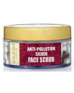 Vaadi Herbals Silver Face Scrub - Pure Silver dust & Fenugreek -50 gms