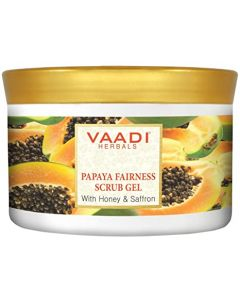 Vaadi Herbals Papaya Fairness Scrub Gel With Honey & Saffron-500 gms