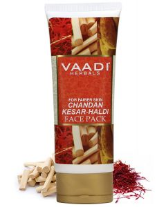 Vaadi Herbals Chandan Kesar Haldi Fairness Face Pack -120 gms