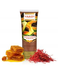 Vaadi Herbals Papaya Fairness Scrub Gel with Honey & Saffron-110 gms