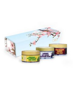 Vaadi Herbals Exotic Radiance Skin Care Herbal Gift Set (Cherry Tree with Beautiful Sparrow)-170 gms