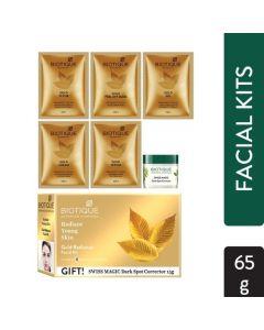 Biotique Ayurvedic Facial Kit - Bio Gold Radiance Facial Kit-65gm