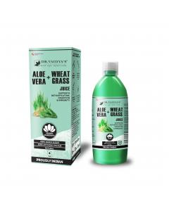 Dr. Vaidya's Aloevera and Wheatgrass Juice - 1 Litre