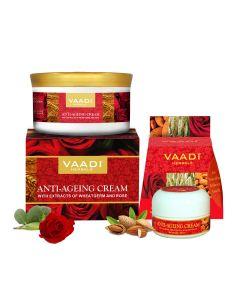 VAADI HERBALS Anti Ageing Cream Almond & Wheatgerm Oil-150 gms