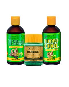 Dr. Vaidya's -Anti-Hair Fall Pack Herbocool-200ml Herbaal- 200ml and Herbofit -30 Capsules