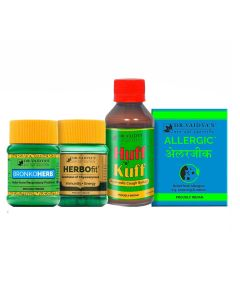 Dr. Vaidya's - Asthma Pack Herbofit-30 Capsules, Sung-Ho-10gm, Swasghna 24 X 4 pills, Allergic 24 X 3 pills