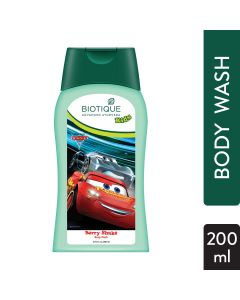 Biotique Disney Pixar Cars Body Wash, Berry Shake-200ml