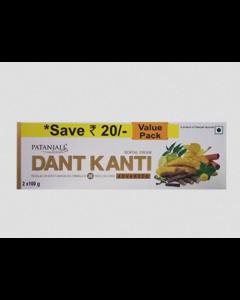 Patanjali Dant Kanti Dental Cream (Adv)-2x100Gm