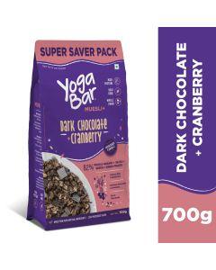 Yogabar Wholegrain Muesli-Dark Chocolate + Cranberry, 700gm