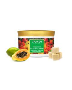 Vaadi Herbals Fresh Fruit Massage Cream With Apple Papaya & Kukum Butter-500 gms