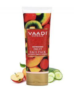 Vaadi Herbals Refreshing Fruit Mask with Apple, Lemon & Cucumber-120 gms