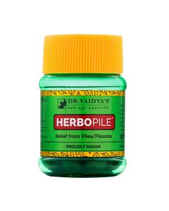 Dr. Vaidya's Herbopile Pills Pack of 2 Piles & Fissures - 60 Pills
