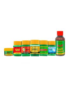 Dr. Vaidya's - Home Health Pack Herbofit -30 Capsules, Herbodanty-50Gm, Huff N Kuff Syrup - 100 ML, Huff N Kuff Lozenges-50 Pills, Kabaj Churna-50Gm, Herbokold -50Gm and Rumox -50Gms