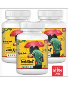 Kaahan Ayurveda Josh King Male-60Capsules Pack of 3pc