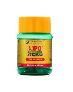 Dr. Vaidya's Lipoherb Capsules Pack of 3 - Weight Loss and Cholesterol-90 Pills