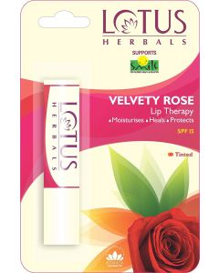 Lotus Herbals Lip Therapy Velvety Rose- 4gm