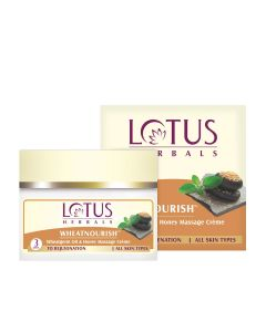 Lotus Herbals Wheatnourish Wheatgerm Oil and Honey Nourishment Massage Cream-50gm