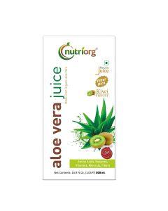 Nutriorg Aloe Vera Juice With Kiwi Flavour-500ml