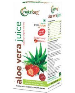 Nutriorg Aloevera Strawberry Juice-500ml
