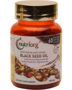 Nutriorg Black Seed Oil 60 Capsules-500 mg