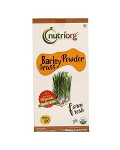 Nutriorg Certified organic Barley Grass Powder-100gm