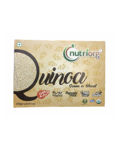 Nutriorg Certified Organic Gluten Free Quinoa-250gm Pack Of 2
