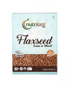 Nutriorg Flax Seed RAW (Certified Organic Flax seed)-250gm Pack Of 2