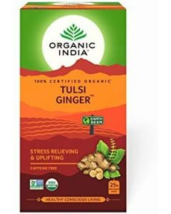 Organic India Tulsi Ginger Tea-25 Tea Bags