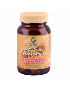 Organic Wellness Heal Ashwagandha W+ Energy Boosting Supplement-90 Capsules