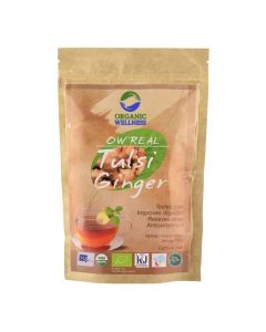Organic Wellness Real Tulsi Ginger Green Tea-100gm Zipper Pouch