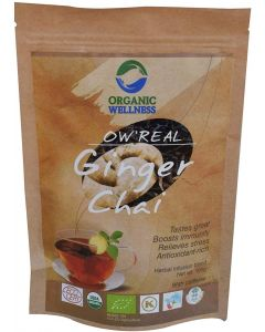 Organic Wellness Real Ginger Chai-100gm Zipper Pouch