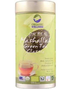 Organic Wellness Real Mashallah Green Tea Classic-100gm Tin