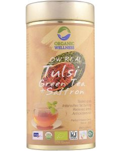 Organic Wellness Real Tulsi Green Tea + Saffron-100gm Tin