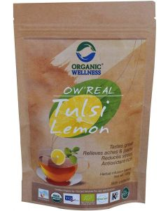Organic Wellness Real Tulsi Lemon-100gm zipper Pouch