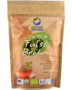 Organic Wellness Real Tulsi Brahmi-100gm Zipper pouch
