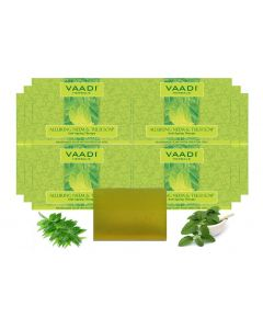 Vaadi Herbals Neem Tulsi Soap Gift Box- (10 x 75 gms)