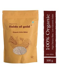 Pristine Organics Fields of Gold  Organic Little Millet-500gm