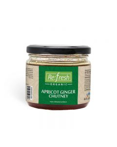 Refresh Organic Apricot Ginger Chutney-350gm